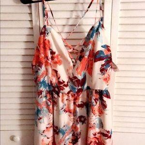 Floral strap dress
